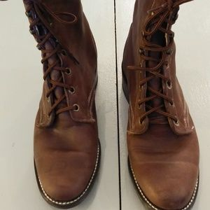 Laredo Lace Up Boot Brown Leather